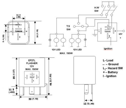flasher relay wiring diagram help  electrical engineering
