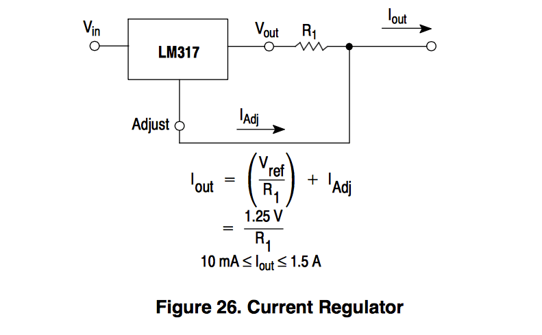 LM317 µA Constant Current Source