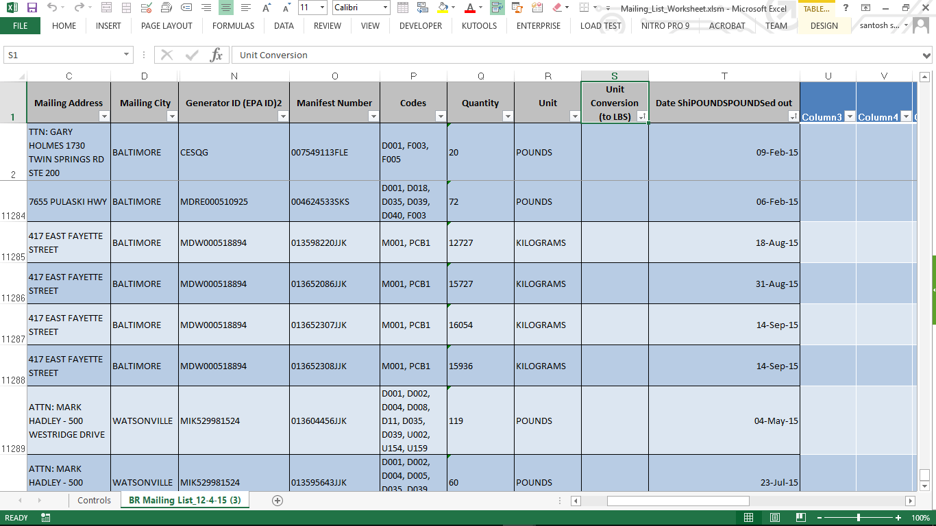 Converting Values To Lbs Excel Vba