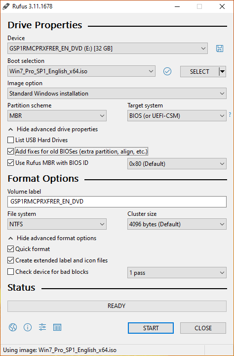 USB Flash Settings
