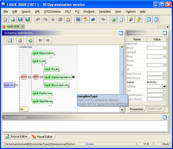 Free version of Visual XML/XSD Editor - Stack Overflow