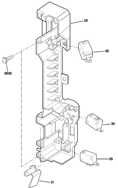 a microwave door interlock work