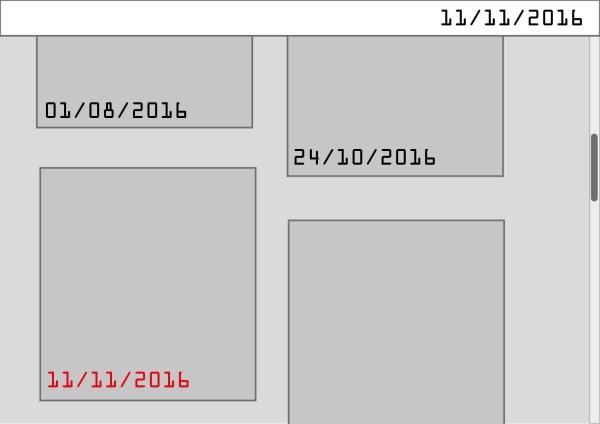 javascript - get post metadata depending on scroll ...