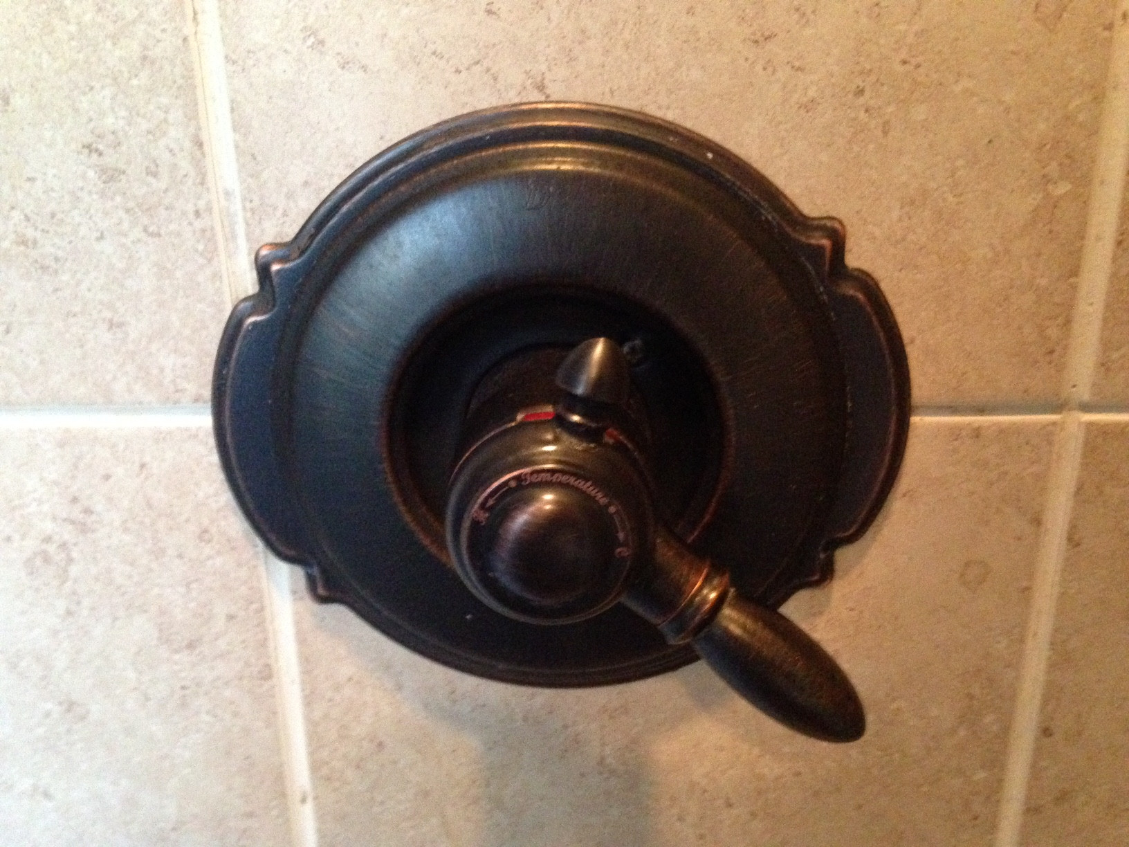 shower faucet with no set screw