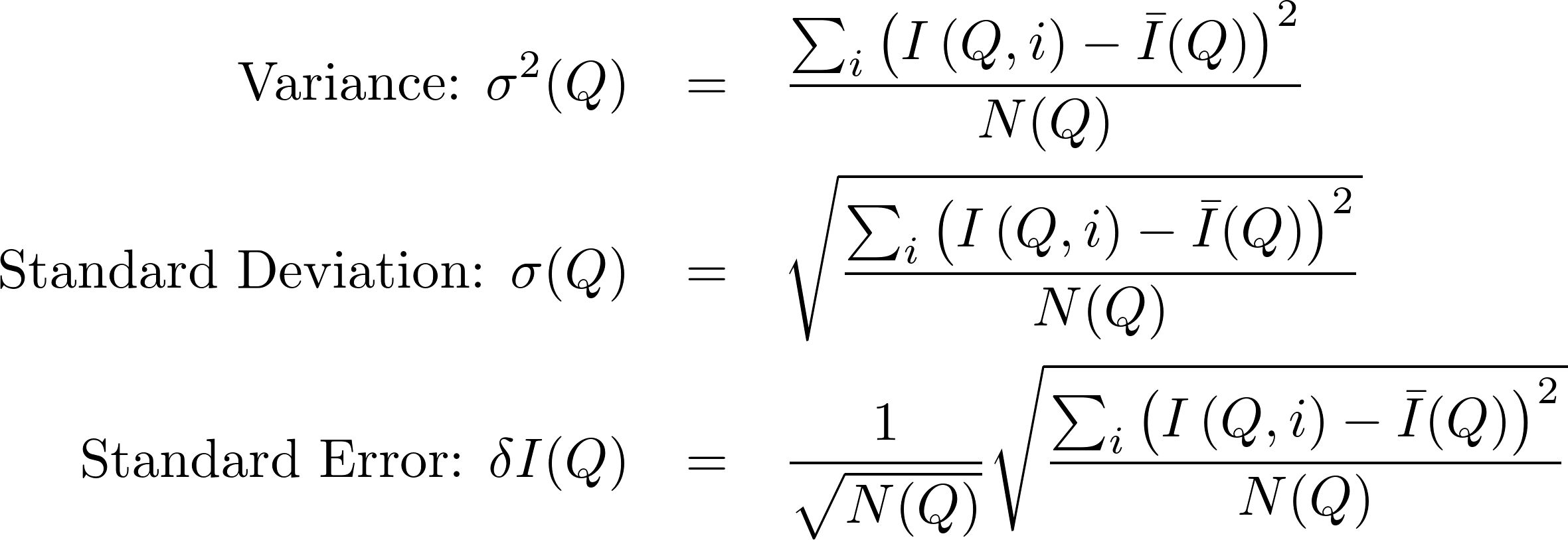 Standard Error For Weighted Values