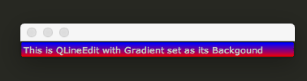 qt - How to assign the horizontal gradient to QLineEdit ...