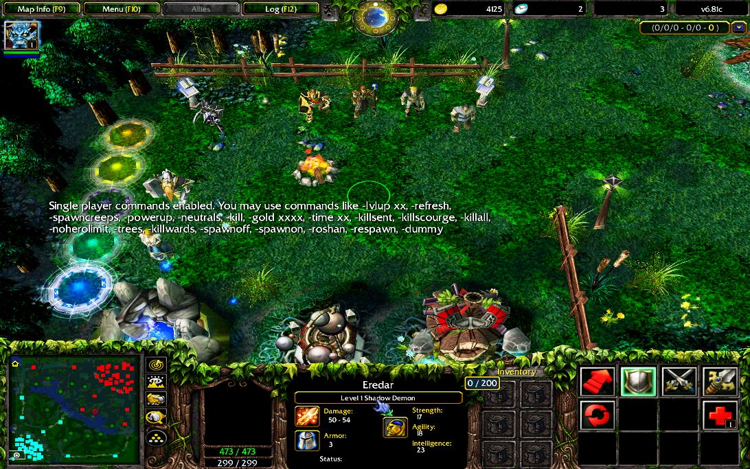 I Cant See Shadow Demon And Warlocks Golem In DotA Arqade