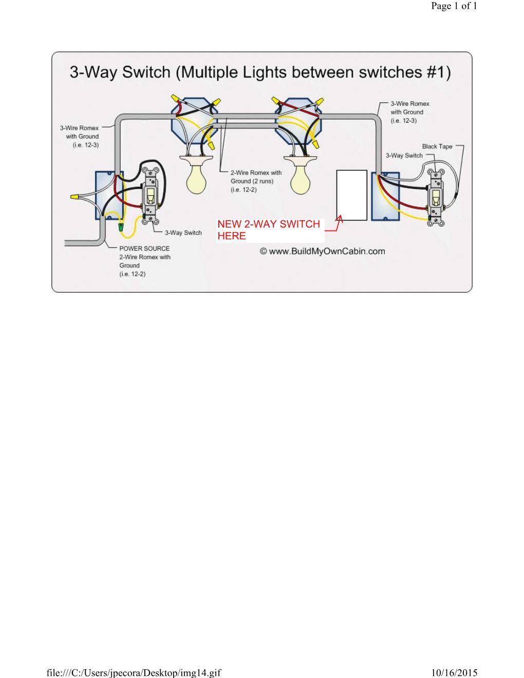 3 Way Switch Single Pole Wiring Diagram Free Download Wiring Diagram ...