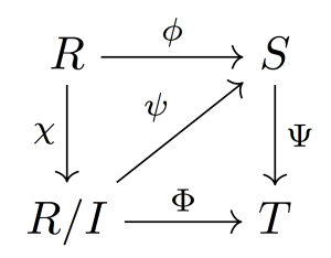 tikz pgf  Four Node Commutative Diagram in LaTeX  TeX