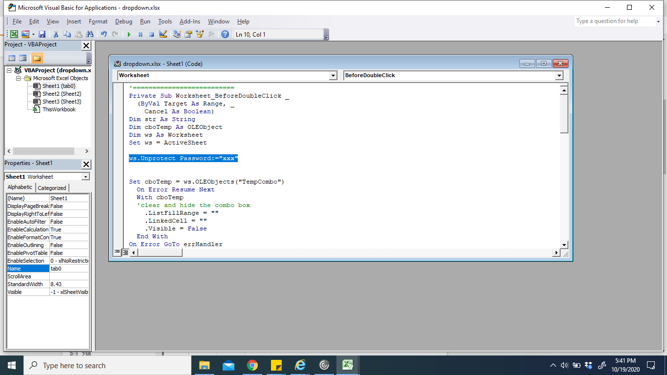 Unprotect Sheet Using Vba Code Is Not Working In Ms Excel