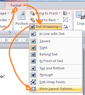 How to align image same as text in Word 2007? - Super User