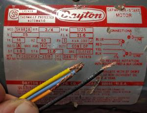 How to wire capacitor start ac motor  Electrical