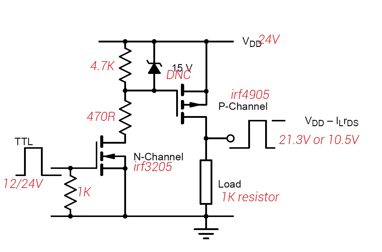P Channel Mosfet Seems To Put Out The Voltage Of The Mcu