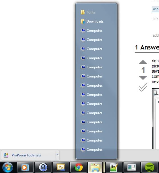 taskbar - Altering the Windows 7 grouping thumbnail ...