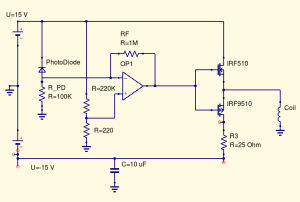Mosfet push pull not driving inductive load as expected