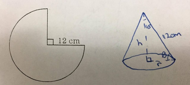 How do you find the radius with only the slant height? Please show