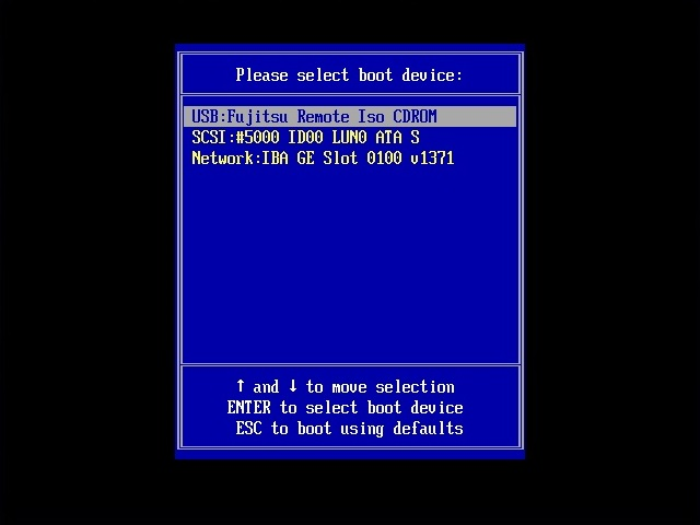 Select boot from Windows installation
