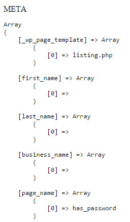 wordpress - get_post_meta for all keys brings back arrays ...