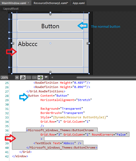 wpf - How to remove ButtonChrome border (when defining the ...