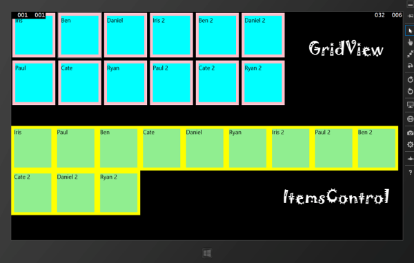 xaml - GridView vs Buttons - Stack Overflow