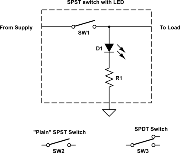 spst rocker switch wiring for led strip  electrical