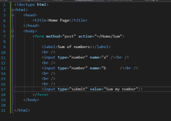 c# - Input is not showing - Stack Overflow