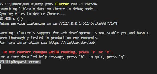 Flutter web api calling XMLHttpRequest error - Stack Overflow