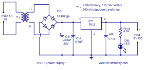 capacitor  Cap Value for Full Wave Rectifier Circuit