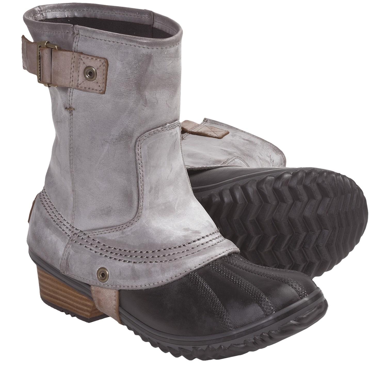 Sorel Slim Pack Riding Boot Charcoal