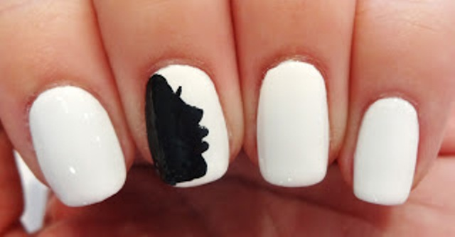 Cute And Easy Black White Diy Dandelion Nail Art Styleoholic