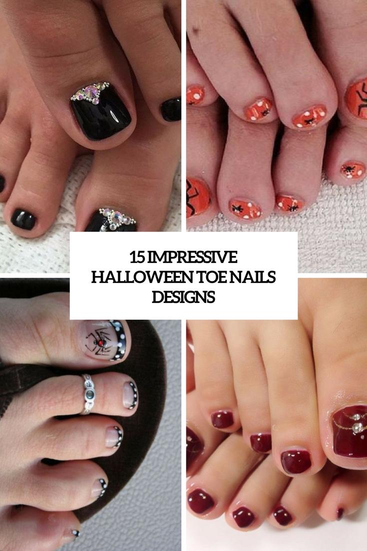 15 Impressive Halloween Toe Nails Designs Styleoholic