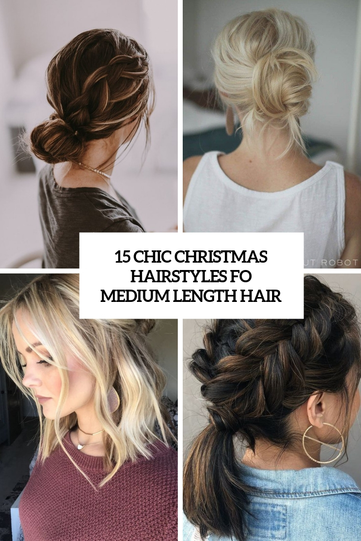 15 Chic Christmas Hairstyles For Medium Length Hair