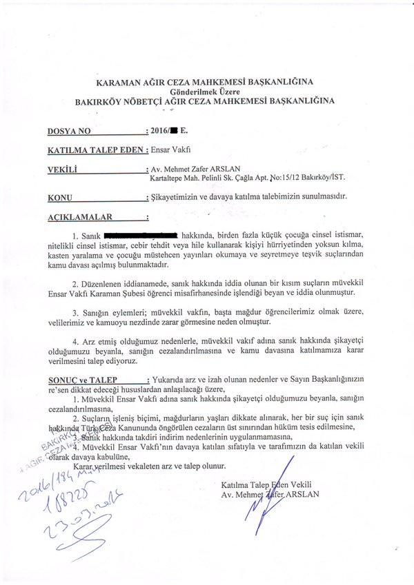 Turkish NGO Ensar Foundation vows action against pedophilia, defamation