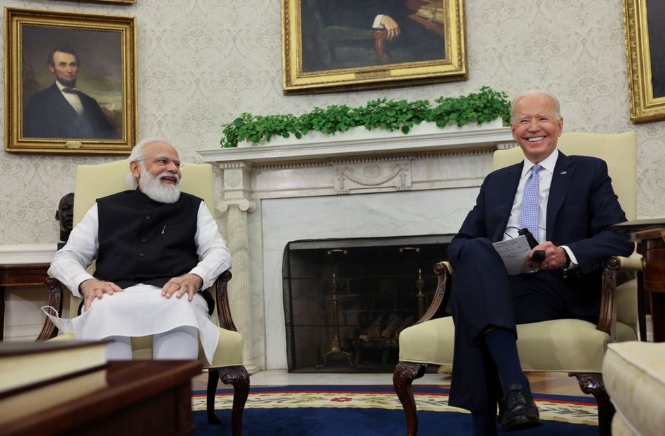 us president joe biden meets with india s prime minister narendra modi in the oval office at the white house in washington us september 24 2021 reuters