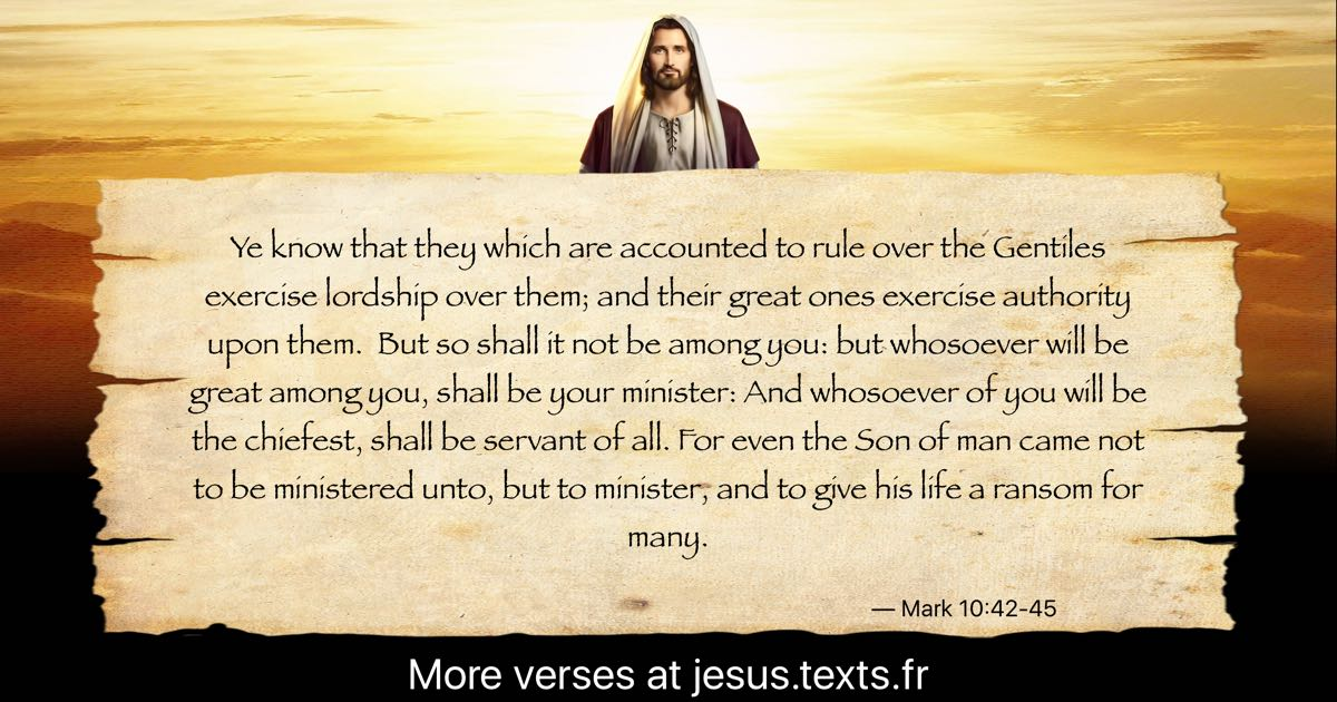 A Quote From Jesus Christ Ye Know That They Which Are