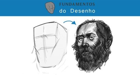 O desenho de cabeças, rostos e retratos