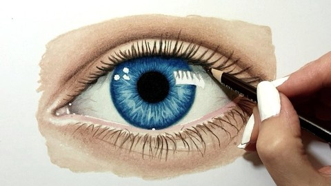 How to Draw an Eye with Colored Pencils from Scratch | Udemy