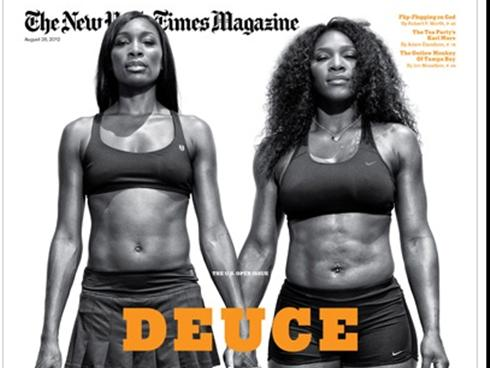 Venus and Serena Williams NY Times Magazine Deuce Sports Bra