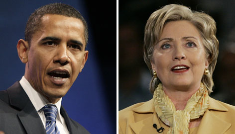 Democratic presidential hopefuls Barack Obama, left, and Hillary Rodham Clinton, right, square off tonight in a debate in Pennsylvania in advance of the April 22 Democratic primary in the Keystone State.