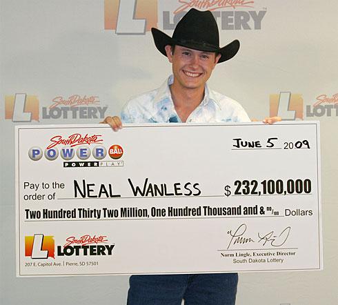 Neal Wanless, Powerball Winner