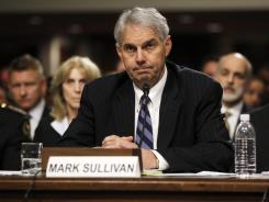 Secret Service Director Mark Sullivan testifies on Wednesday before the Senate Homeland Security and Governmental Affairs Committee.