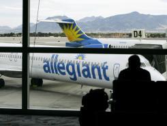 An Allegiant Air jet at McCarran International in Las Vegas.