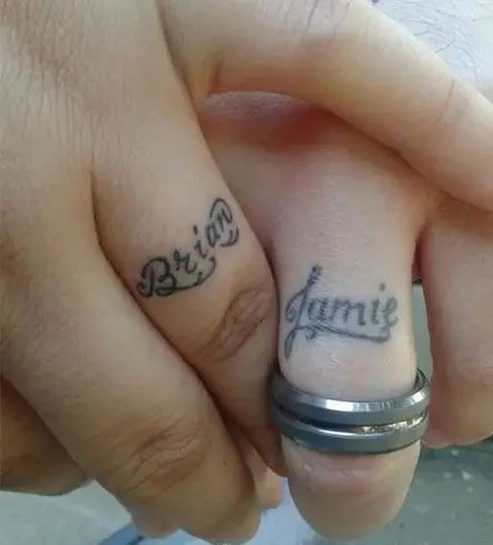 Your partner's name is always a very romantic and cool idea to rock