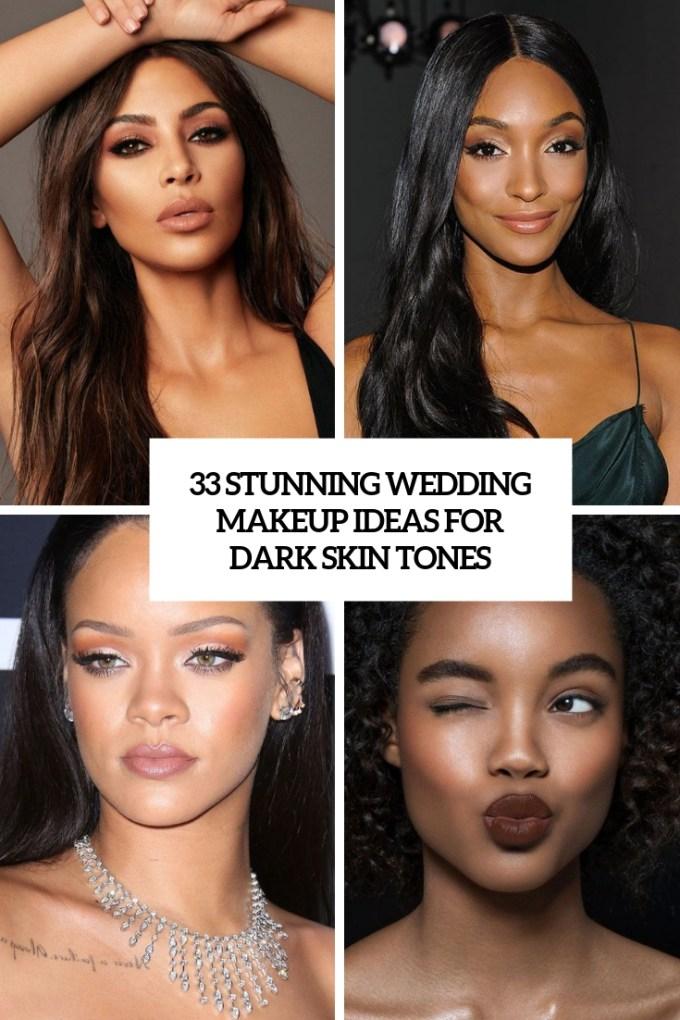33 stunning wedding makeup ideas for dark skin tones