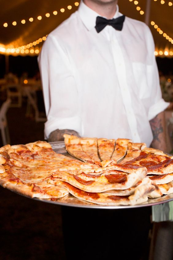 pizza of various kinds is one of the best ideas to rock as a late night snack, your guests will be happy