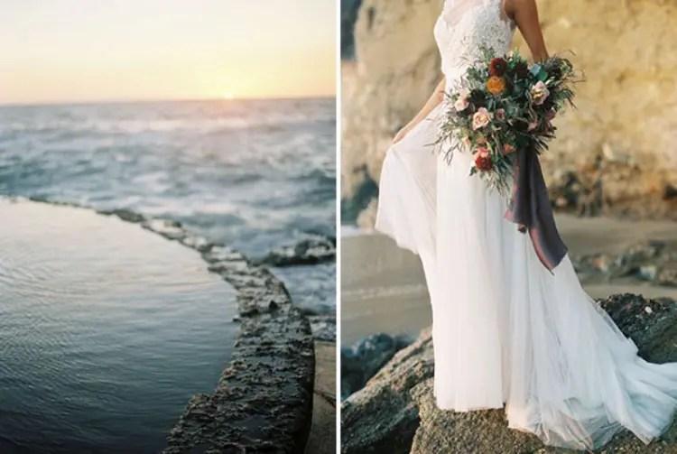 Rose Quartz And Serenity Beachside Wedding Shoot