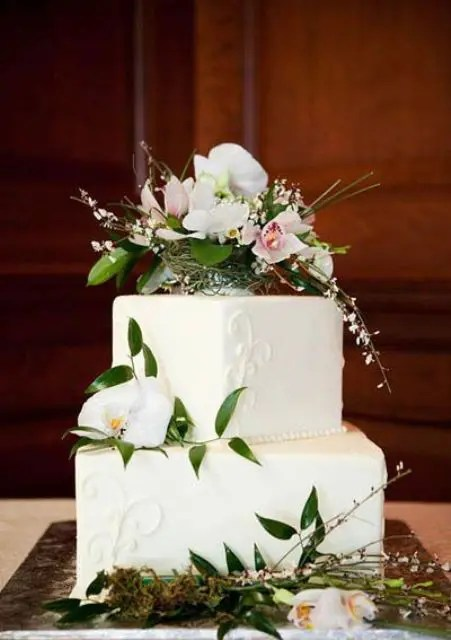 square wedding cake ideas 30 gorgeous square wedding cake ideas crazyforus 20387
