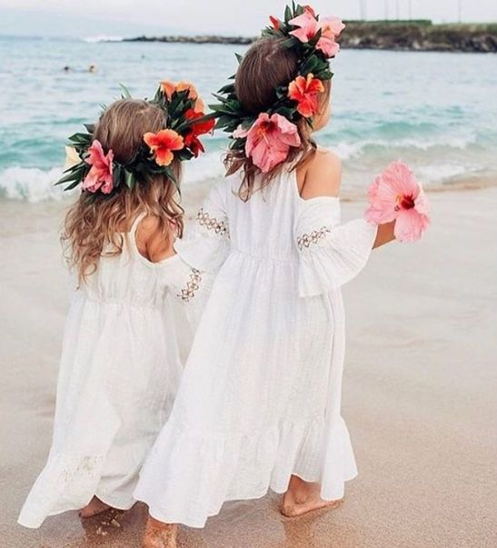 plain flower girl midi dresses with a cold shoulder, long sleeves and lace inserts
