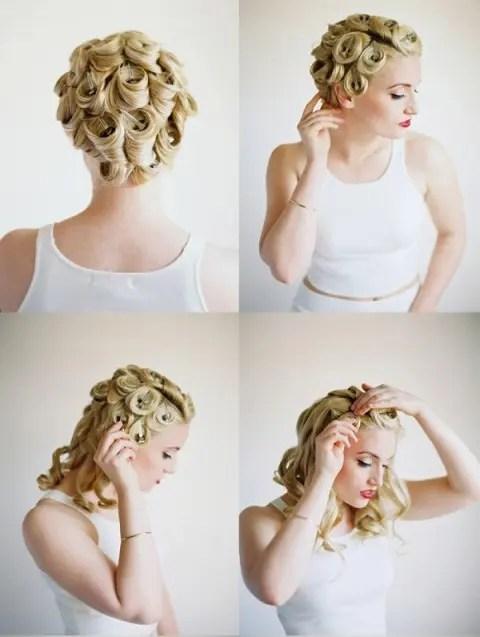Elegant DIY Pin Curls For Retro Weddings Weddingomania