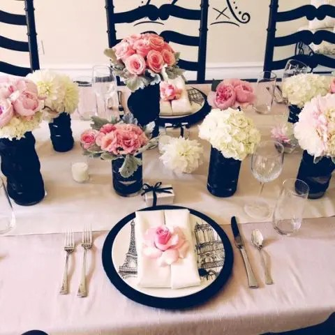 22 Chic Parisian Themed Bridal Shower Ideas Crazyforus